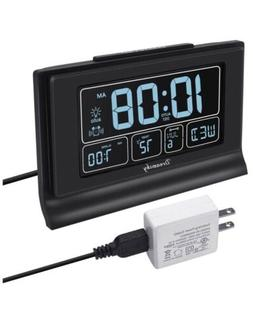 DreamSky DS313 6.6in. LCD Auto Set Digital Alarm Clock- Blac