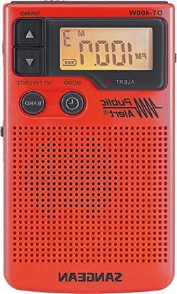 Sangean DT-400WSE RED AM/FM Digital Weather Alert Pocket Rad