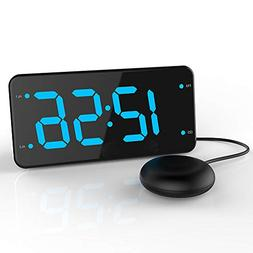 LIELONGREN Dual Alarm Digital Clock with Bed Shaker, Extra L