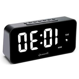 "DreamSky 7.3"" Large Alarm Clock Radio with FM Radio and USB"