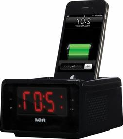 RCA  Dual Alarm Clock FM Radio iPhone iPod Charge/Play 30-Pi