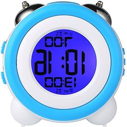 YOUOWO Digital Dual Alarm Clock Loud Alarm Clock Twin Bell K