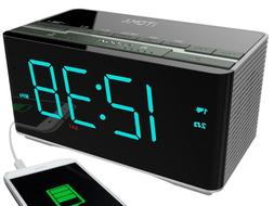 Dual Alarm Clock Radio with Wireless Bluetooth Stereo Speake