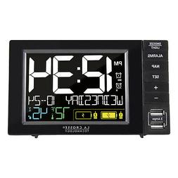 317-1909 La Crosse Technology Dual Alarm Clock with 2 USB Ch