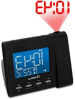 EAAC601 Projection Alarm Clock with AM/FM Radio, Battery Bac
