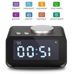 EAAGD Digital Alarm Clock FM Radio Loud Alarm Clock for Heav