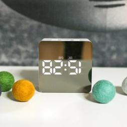 Easy Operated Alarm Clock Digital LED Display Portable Moder