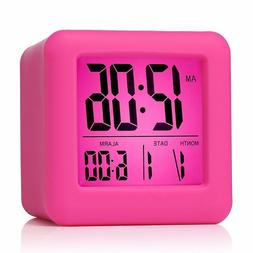 Plumeet Easy Setting Digital Travel Alarm Clock with Snooze
