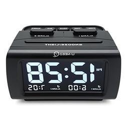 U-needQ Easy Use Large Time Display Dual Alarm Digital Desk