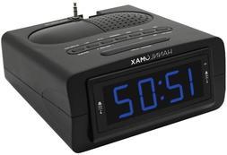 Electric LED Digital Dual Alarm Clock Radio AM/FM Battery Ba
