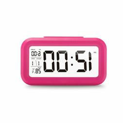 Electronic Backlight Snooze Digital Alarm LCD Date Clock Dis