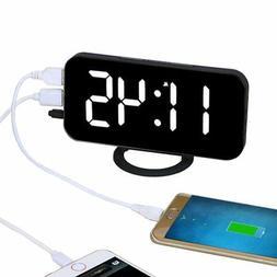 EAAGD Electronic LED Digital Desktop Decoration Alarm Clock