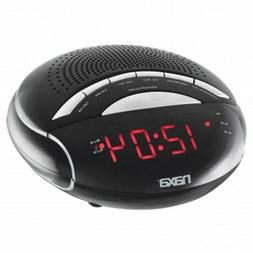 NAXA Electronics NRC-170 PLL Digital Dual Alarm Clock with A