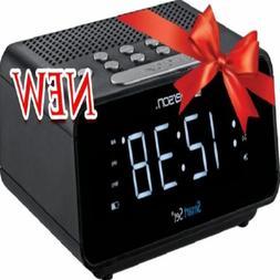 Emerson ER100101 SmartSet Alarm Clock Radio - White LED Disp