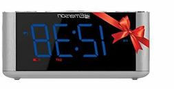 Emerson SmartSet Alarm Clock Radio USB port for iPhone/iPad/