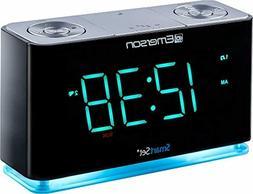 Emerson SmartSet Alarm Clock Radio with Bluetooth Speaker, C