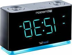 Emerson SmartSet Alarm Clock Radio with Bluetooth Speaker Ch