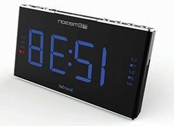Emerson Smartset Sound Therapy Alarm Clock Radio with White