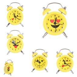 Emoji Twin Bell Alarm Clock Creative Desk Clock For Kids Bed