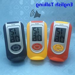 English Talking LCD Digital Alarm Clock for Blind or Low Vis