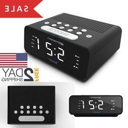 Emerson ER100101 SmartSet Alarm Clock Radio with AM/FM Radio