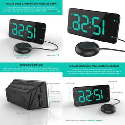 Extra Loud Alarm Clock With Bed Shaker, Vibrating Alarm Cloc