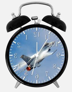 """F16 Flight Falcon Alarm Desk Clock 3.75"""" Home or Office Deco"""