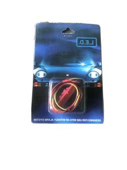 FAKE CAR ALARM LED LIGHT- CHROME RED FLASHING 12v 24v BLINK