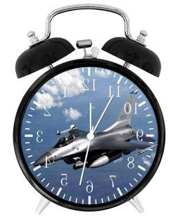 """Flight F-16 Falcon Alarm Desk Clock 3.75"""" Room Office Decor"""