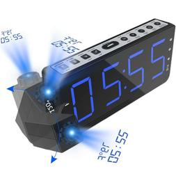 FM Radio Alarm Clock with time Projection Temperature Electr