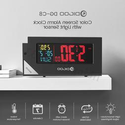DIGOO Full Color Indoor Thermometer Temperature Meter Alarm