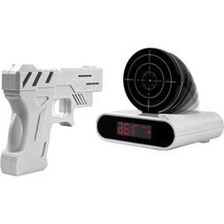 iKKEGOL Game Alarm Clock with Infrared Laser Gun - LED Digit