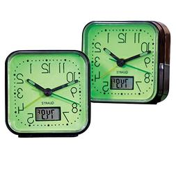 Glow In The Dark Alarm Clocks - 2 Pc, Black
