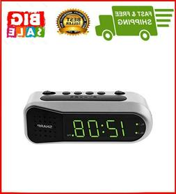 Sharp Digital Alarm Clock with Dual Alarm, Ascending Alarm,