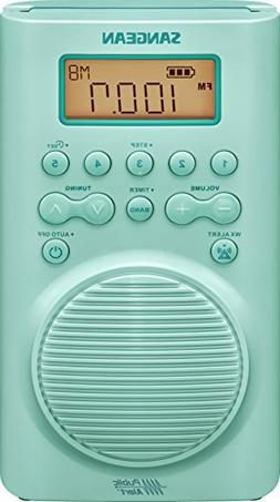 Sangean H205TQ AM/FM Weather Alert Waterproof Shower Radio T
