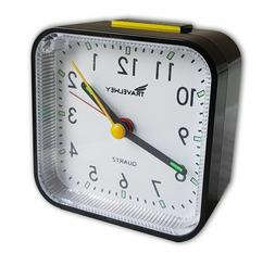 Travelwey Travel Hard Plastic Alarm Clock 80mm by 44mm Black