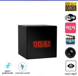 HD 1080P Spy CAM alarm Clock Hidden WiFi wireless Cameras Vi