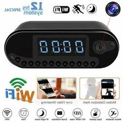 1080P Wireless WIFI IP Mini Video Camera Mirror Alarm Clock