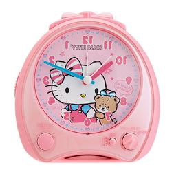 SANRIO Hello Kitty Cute alarm clock talk light snooze with 2