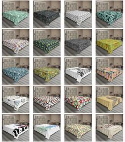 Ambesonne Hipster Theme Flat Sheet Top Sheet Decorative Bedd