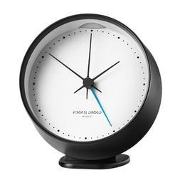 Georg Jensen HK CLOCK w. alarm black-white 10 cm