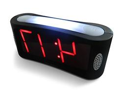 Home Digital Alarm Clock Outlet Powered Big Red Digit Displa