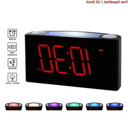 "Rocam Home LED Digital Alarm Clock - 6.5"" Large Red Display,"