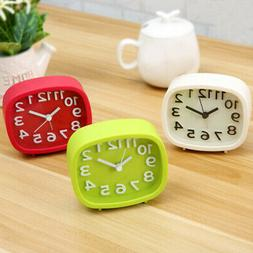 For Home Table Silent Sweep Night Light Decoration Alarm Clo