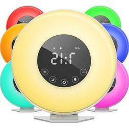 HOmeLabs Clock Radios Sunrise Alarm - Digital LED With 6 Col