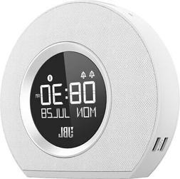Horizon Wireless Speaker with Alarm Clock, FM Radio and Blue