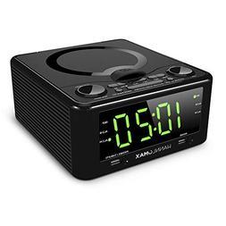 """Hannlomax HX-300CD CD Clock Radio, PLL FM Radio, 1.2"""" Digita"""