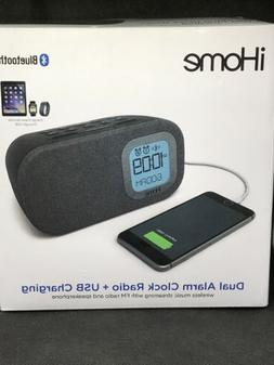 iHome iBT210B Bluetooth Dual Alarm FM Clock Radio with Speak