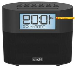 Ihome Ibt231 Bluetooth Dual Alarm Fm Clock Radio With Speake