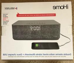 iHome iBT233GC Bluetooth Dual Alarm Stereo Clock Radio + Dua